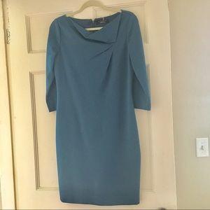 Elie Tahari blue sheath dress 6